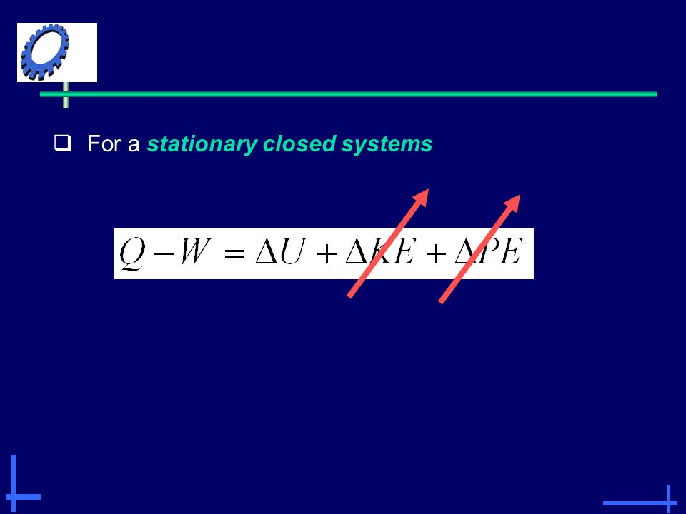 For a stationary closed systems