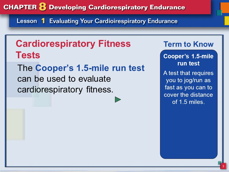 Cardiorespiratory Fitness Tests
