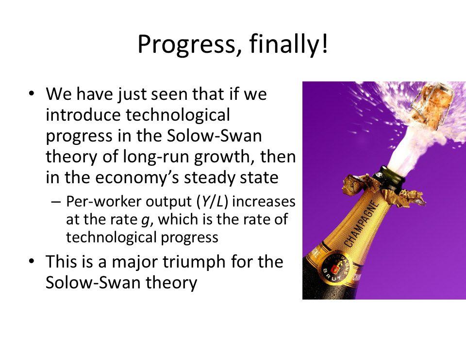 Progress, finally!