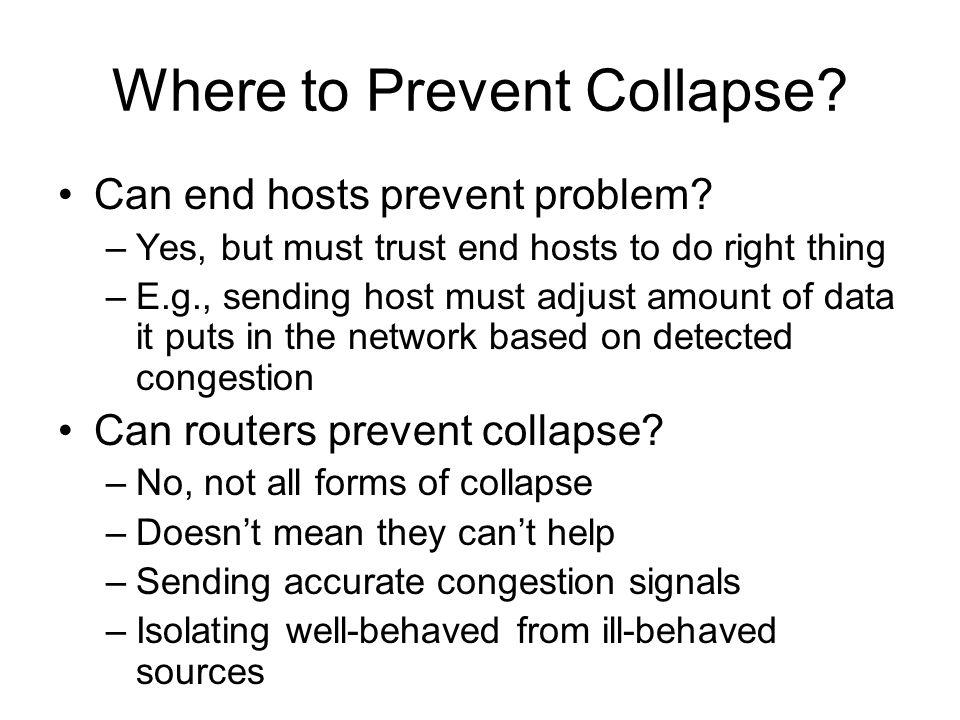 Where to Prevent Collapse
