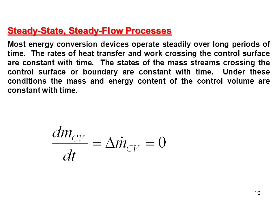 Steady-State, Steady-Flow Processes