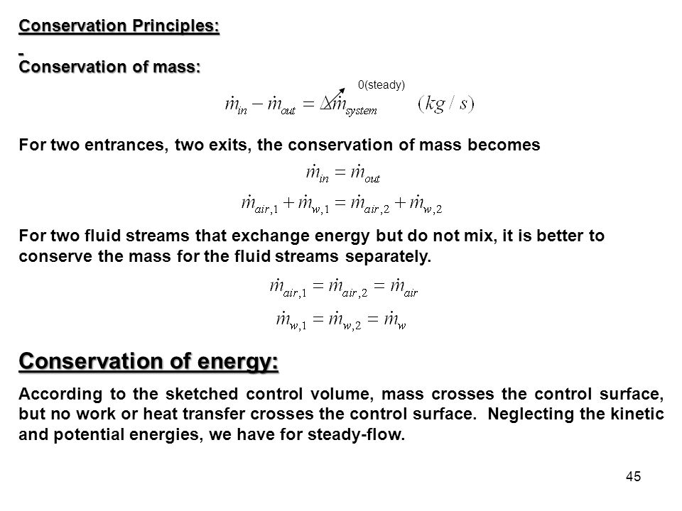 Conservation of energy: