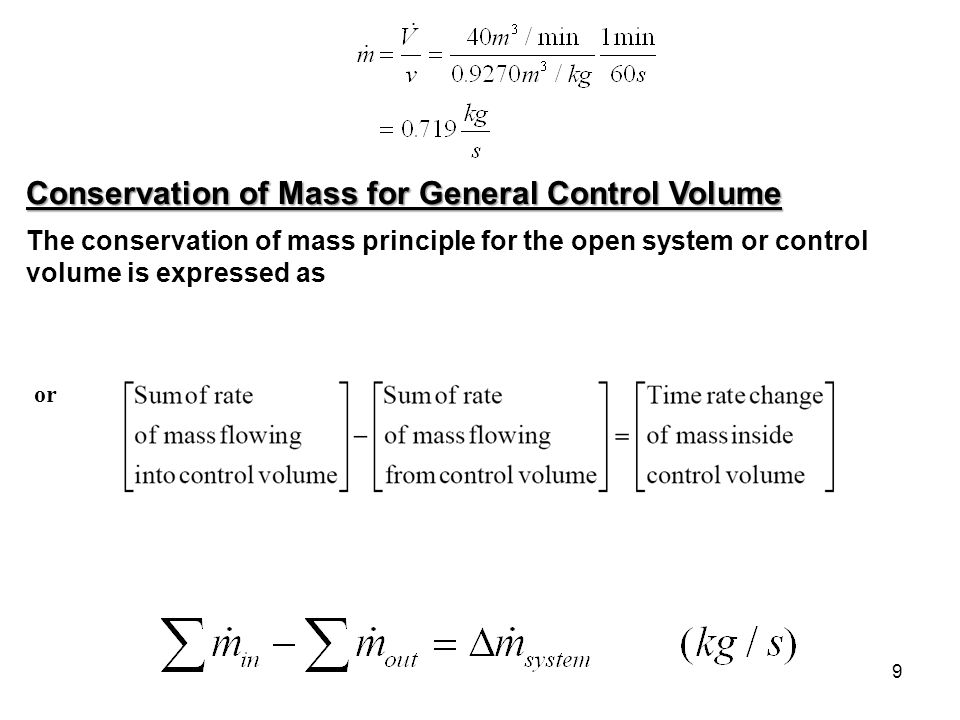 Conservation of Mass for General Control Volume