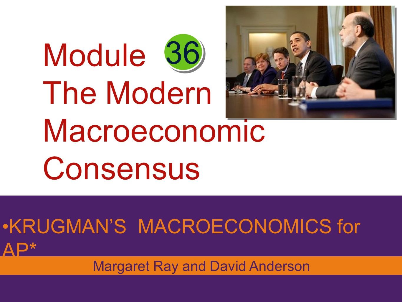 Module The Modern Macroeconomic Consensus