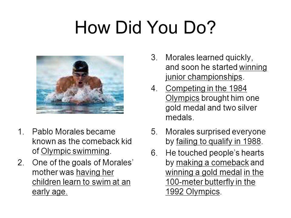 How Did You Do Morales learned quickly, and soon he started winning junior championships.
