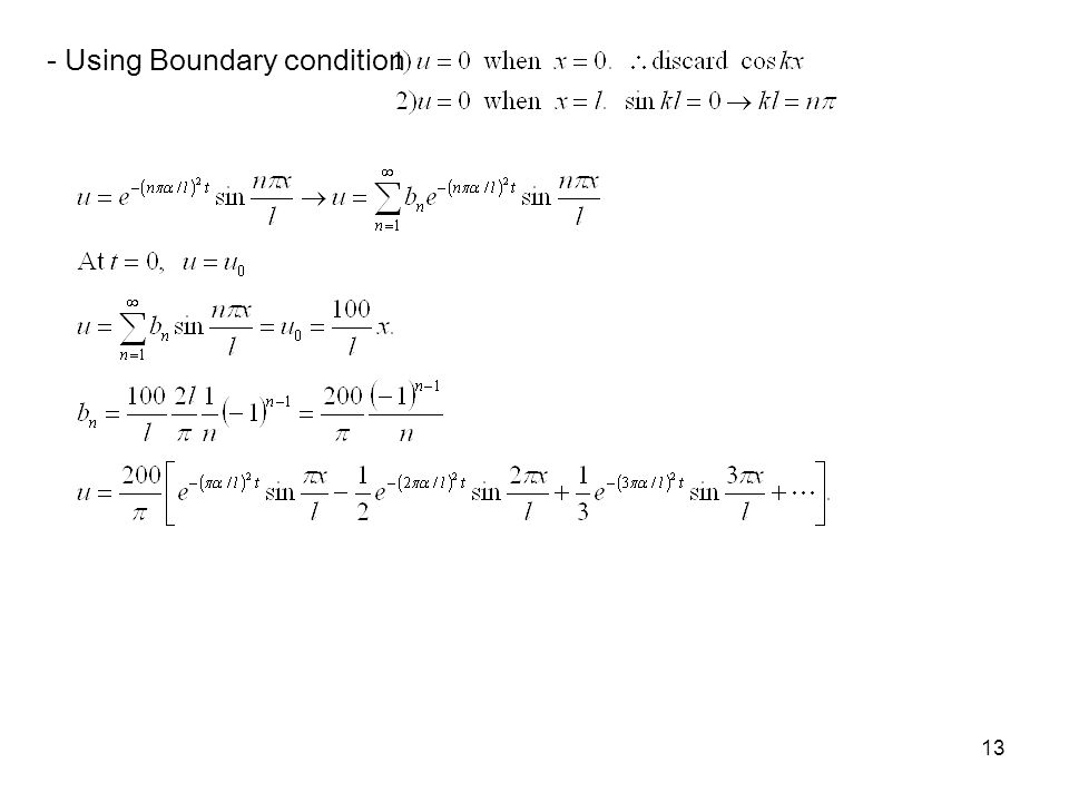 - Using Boundary condition
