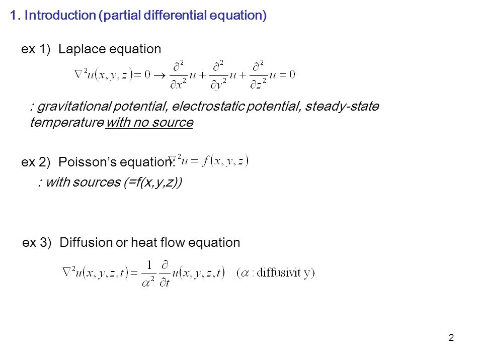 1. Introduction (partial differential equation)