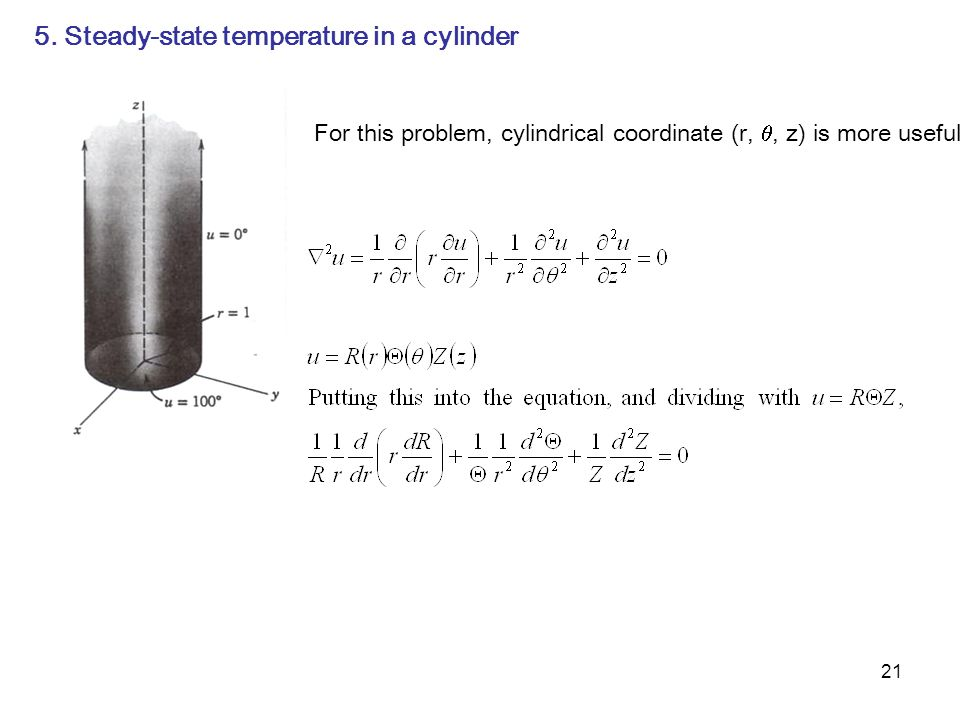 5. Steady-state temperature in a cylinder