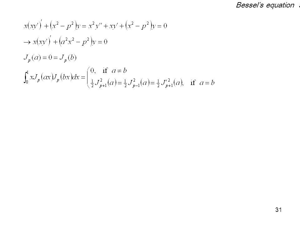 Bessel's equation 5