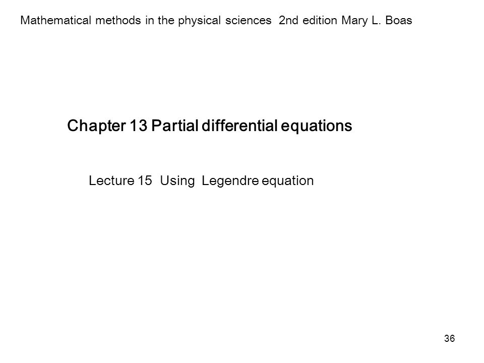 Chapter 13 Partial differential equations