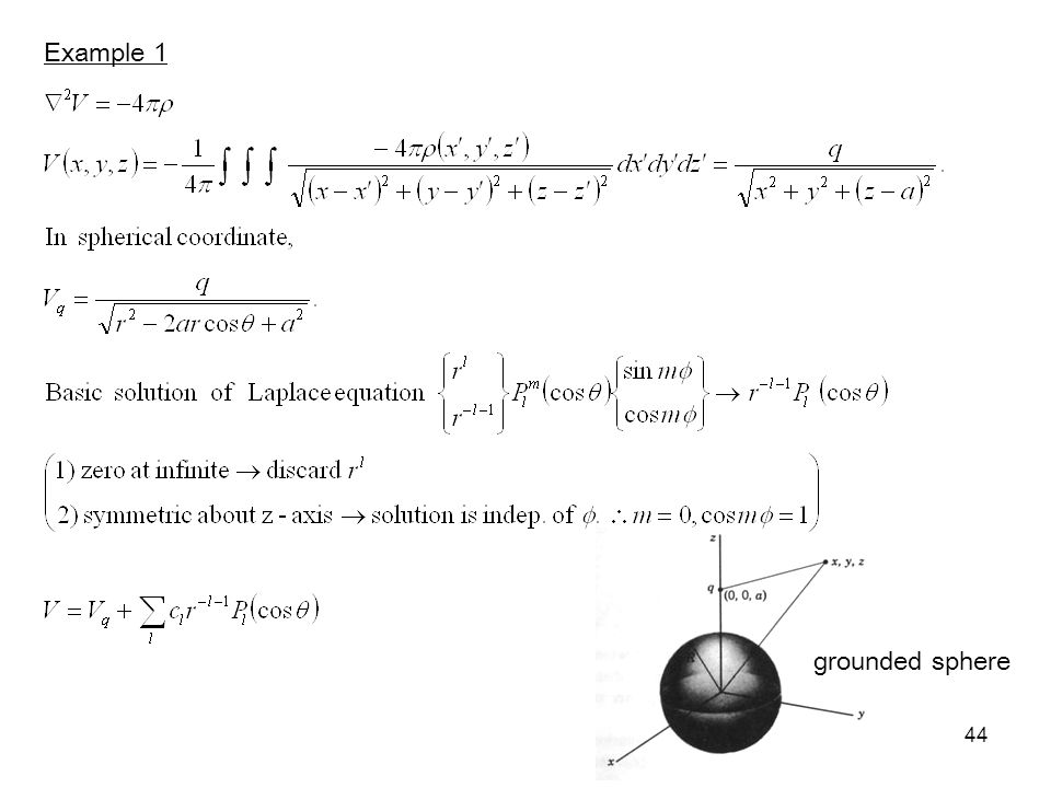 Example 1 grounded sphere