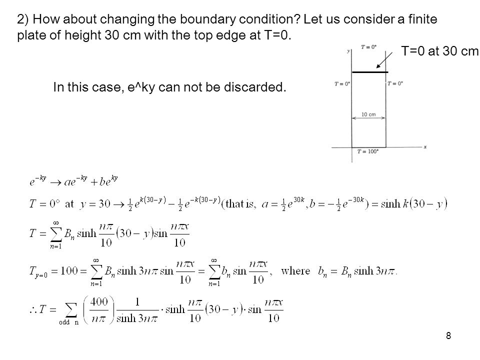 2) How about changing the boundary condition