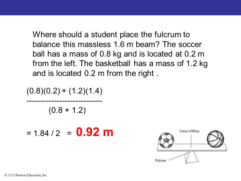 Where should a student place the fulcrum to balance this massless 1