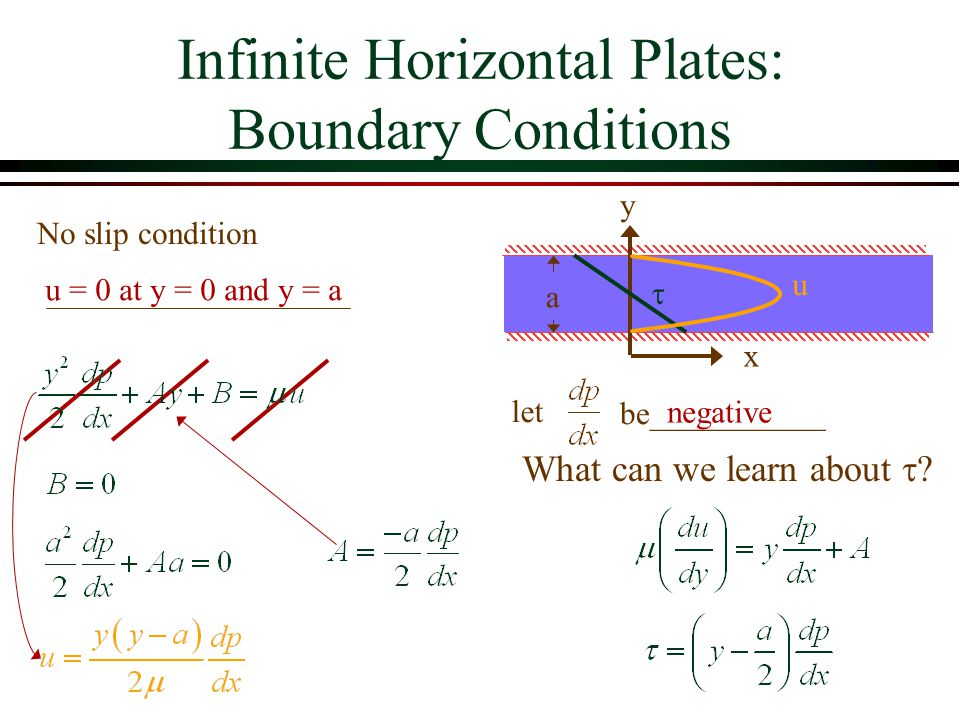 Infinite Horizontal Plates: Boundary Conditions