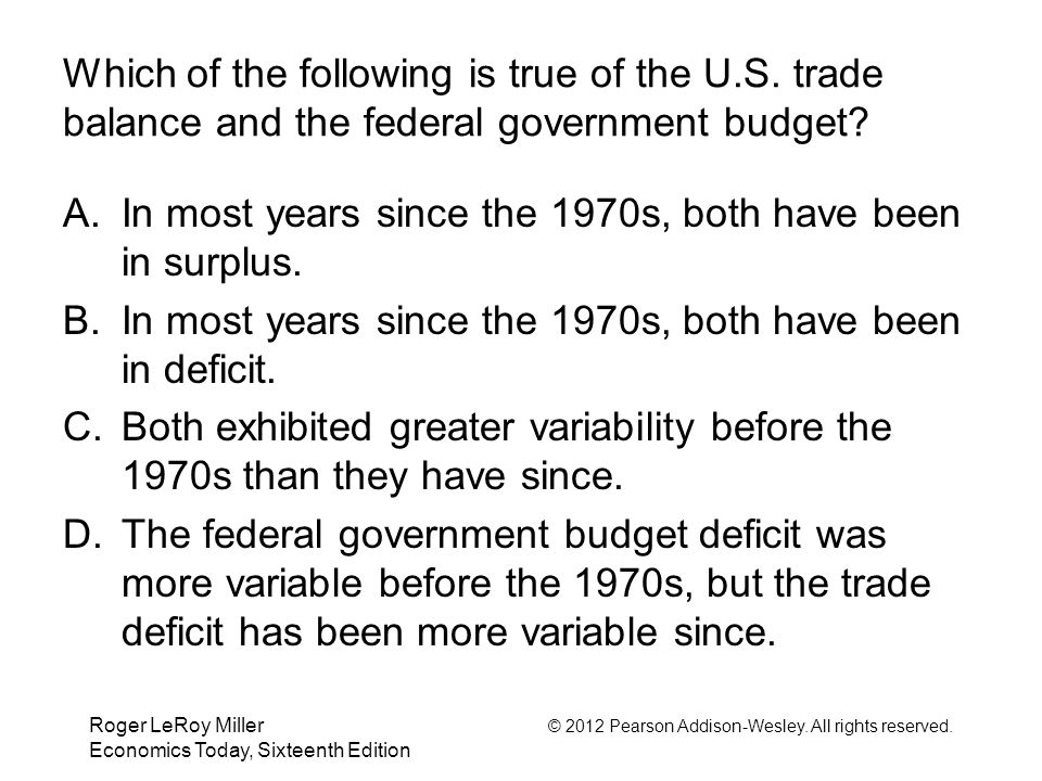 In most years since the 1970s, both have been in surplus.