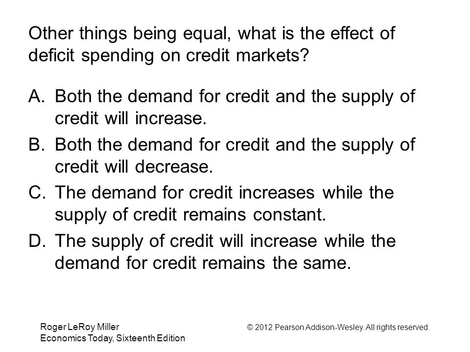 Both the demand for credit and the supply of credit will increase.