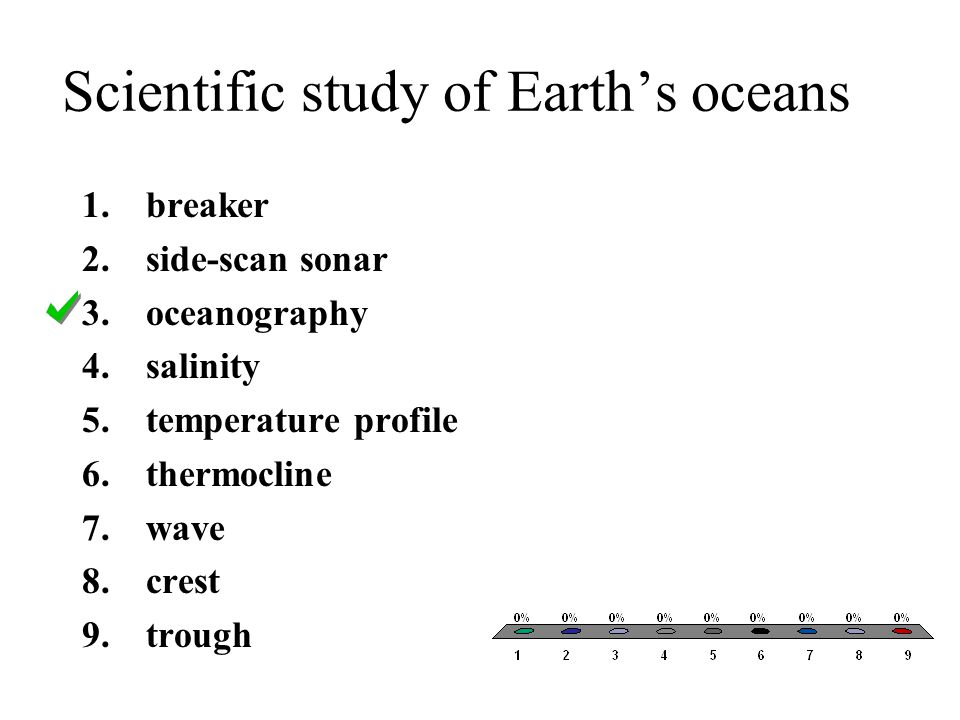 Scientific study of Earth's oceans