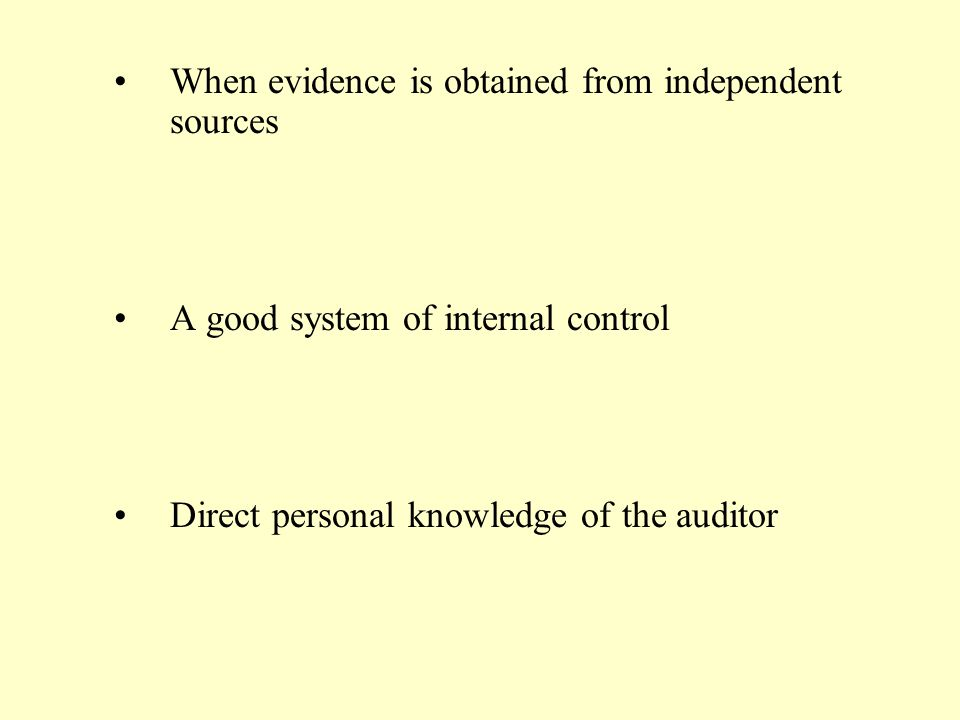 When evidence is obtained from independent sources