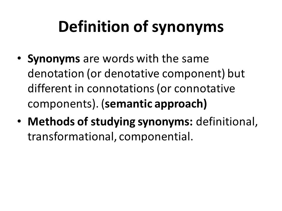 Definition of synonyms