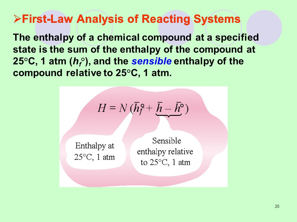 First-Law Analysis of Reacting Systems