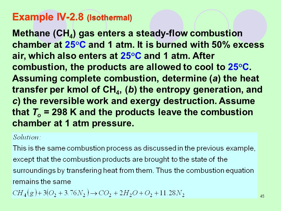 Example IV-2.8 (isothermal)