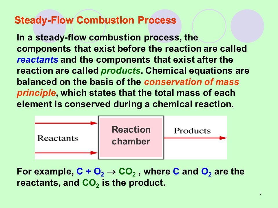 Steady-Flow Combustion Process