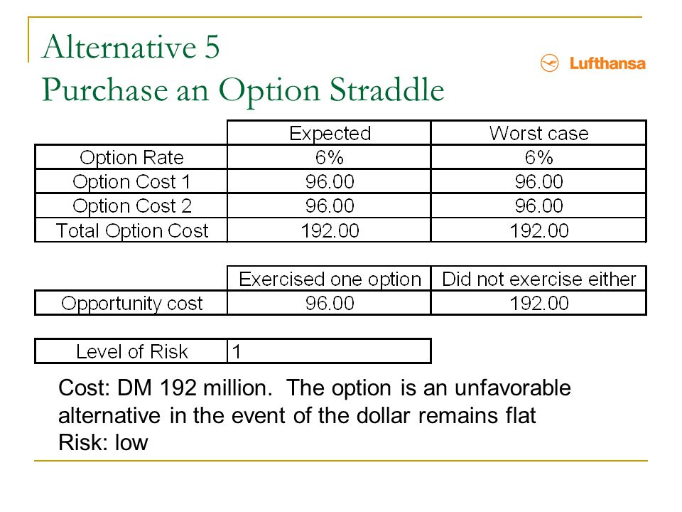 Alternative 5 Purchase an Option Straddle