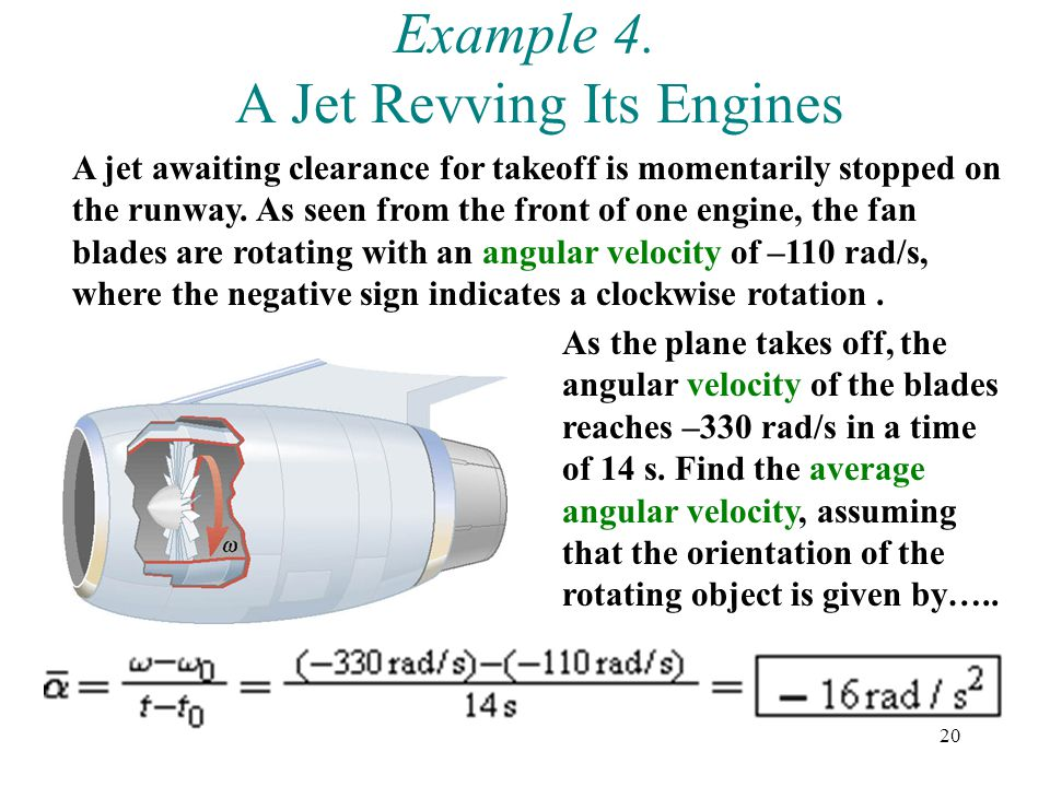 Example 4. A Jet Revving Its Engines