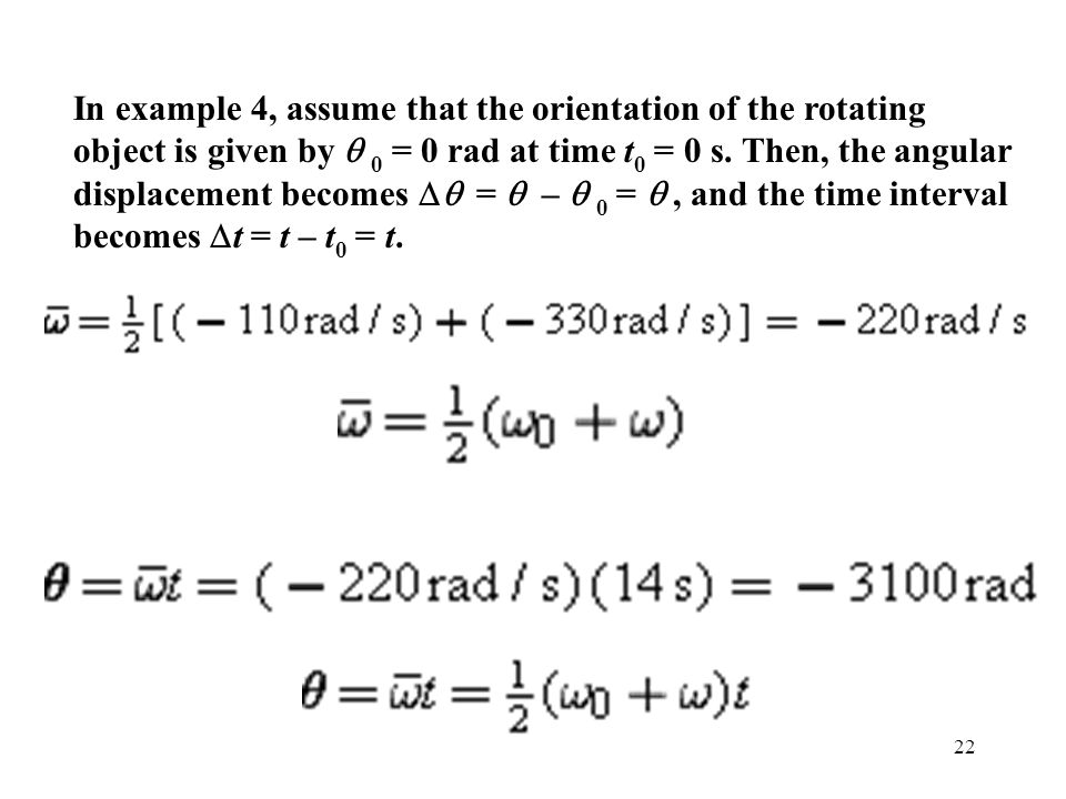 In example 4, assume that the orientation of the rotating object is given by q 0 = 0 rad at time t0 = 0 s.