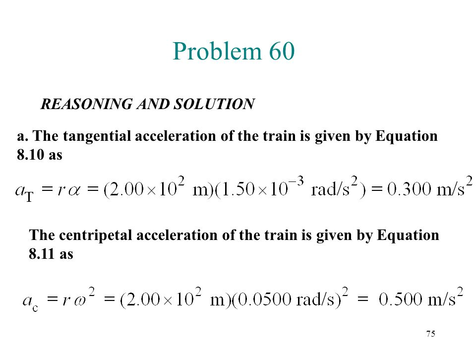 Problem 60 REASONING AND SOLUTION