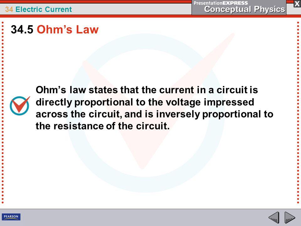 34.5 Ohm's Law