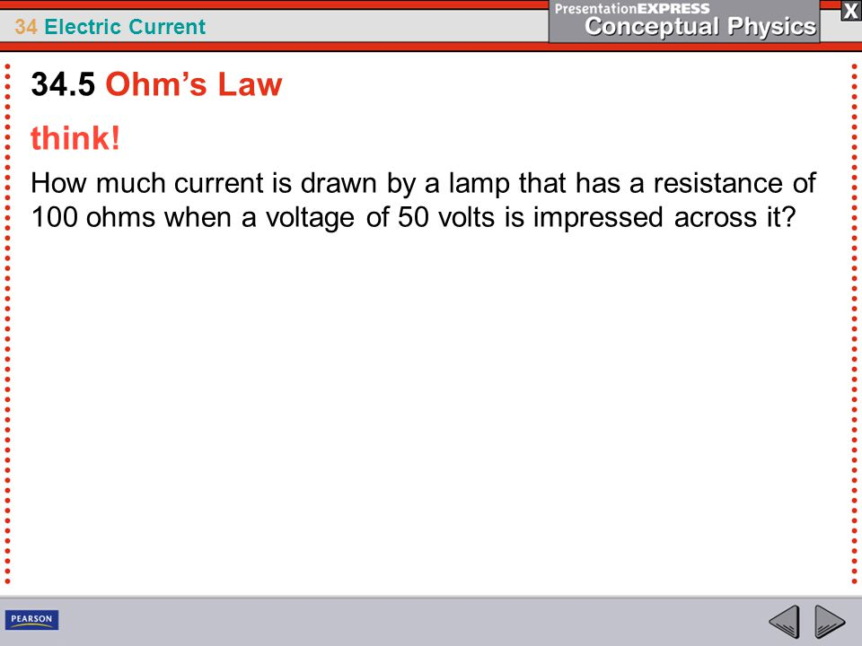 34.5 Ohm's Law think.