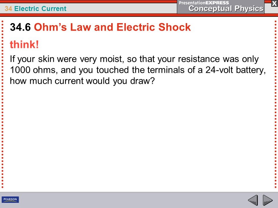 34.6 Ohm's Law and Electric Shock