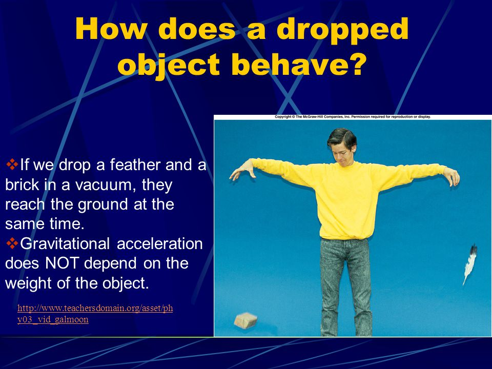 How does a dropped object behave
