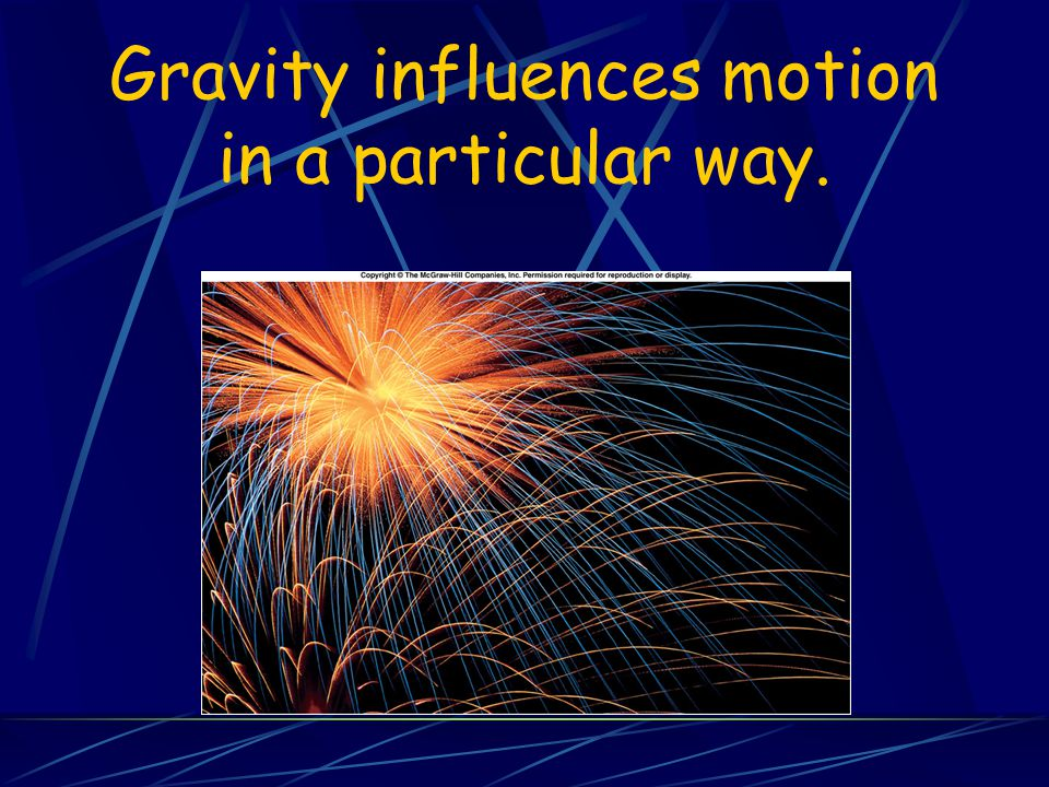 Gravity influences motion in a particular way.
