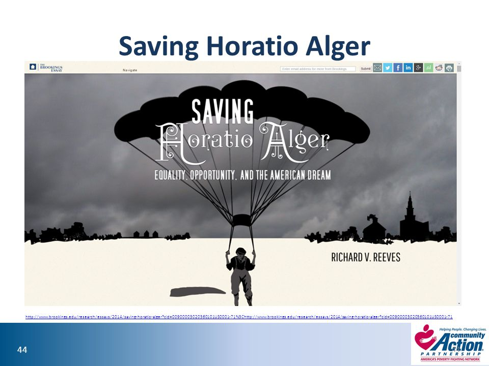 Saving Horatio Alger