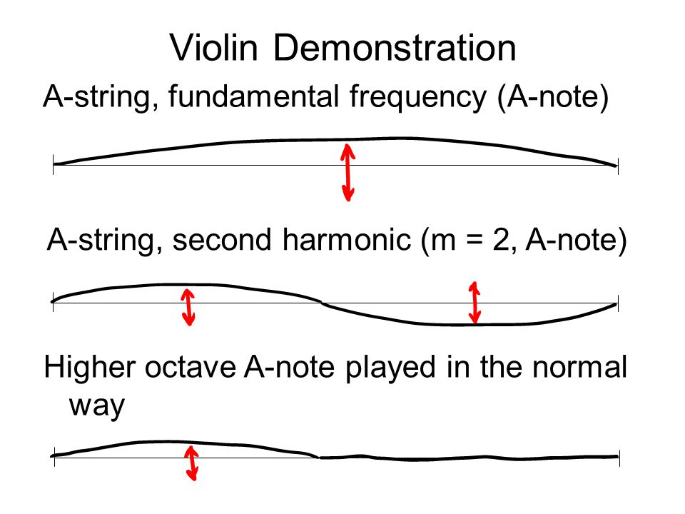Violin Demonstration A-string, fundamental frequency (A-note)