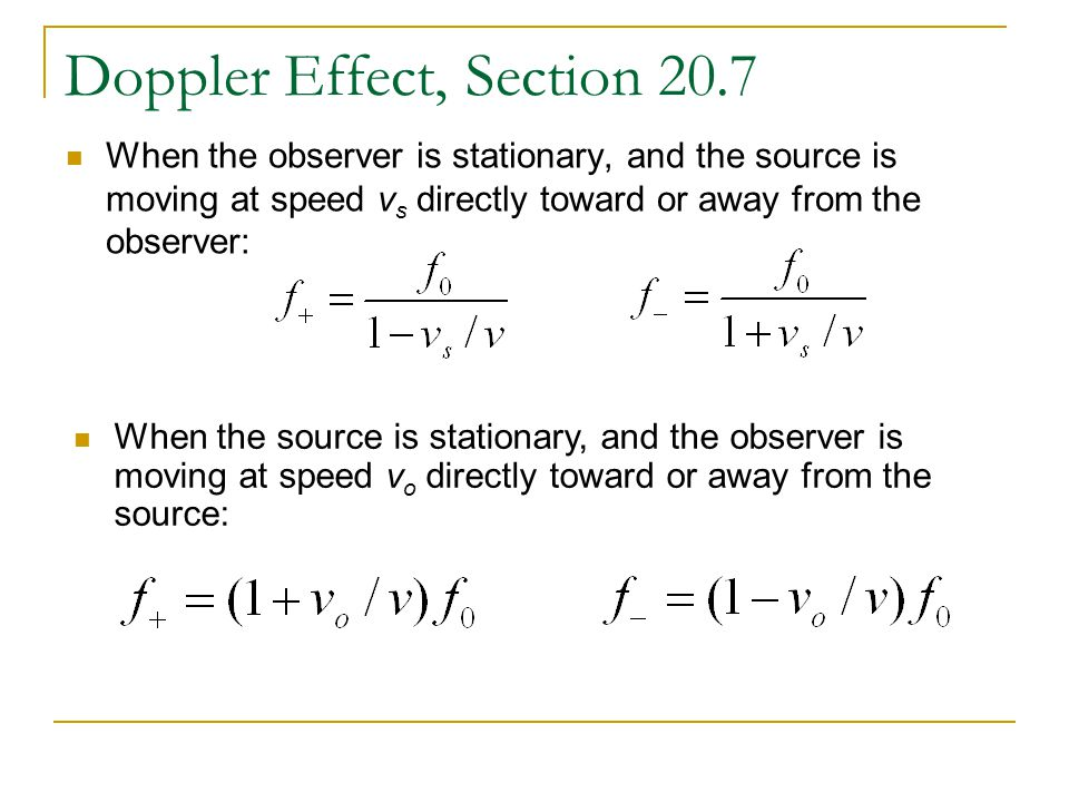Doppler Effect, Section 20.7