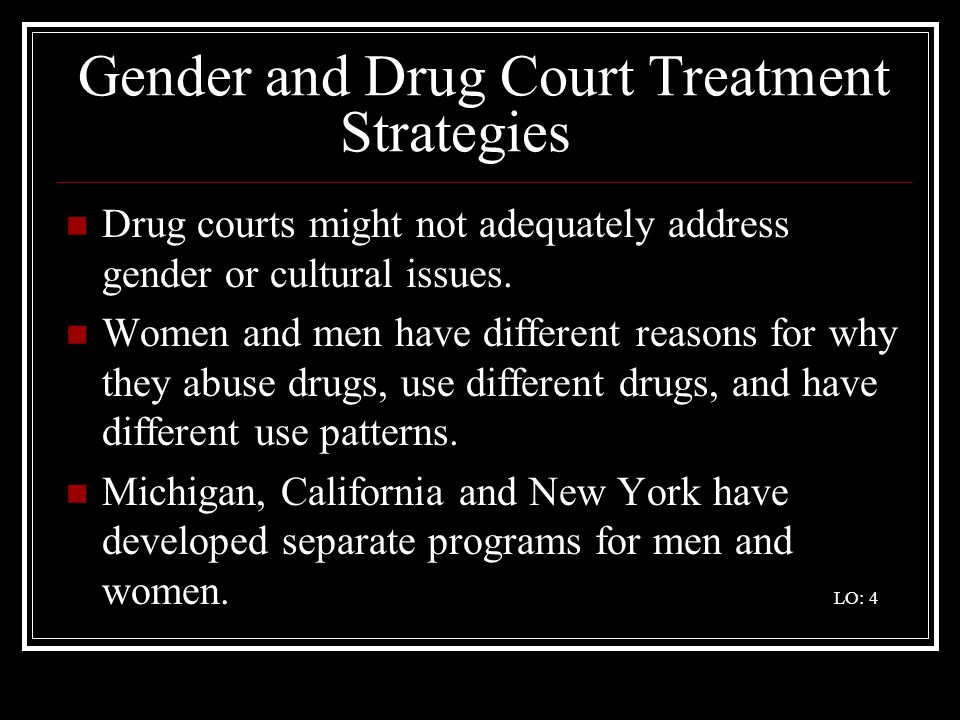 Gender and Drug Court Treatment Strategies