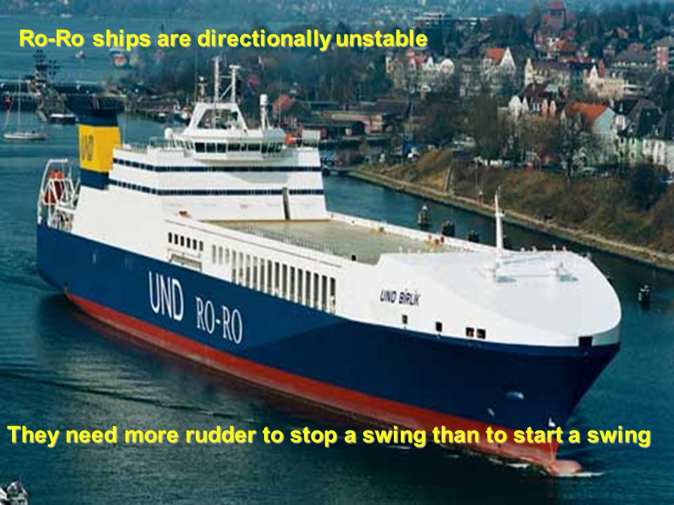 Ro-Ro ships are directionally unstable