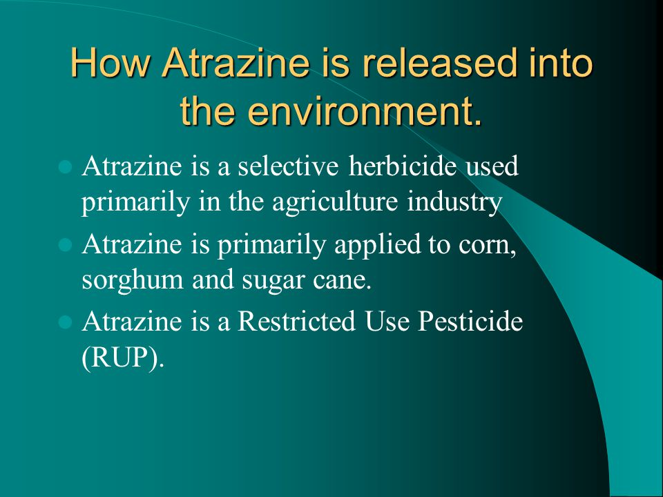 How Atrazine is released into the environment.