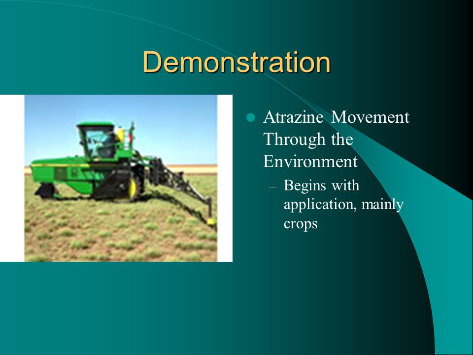 Demonstration Atrazine Movement Through the Environment