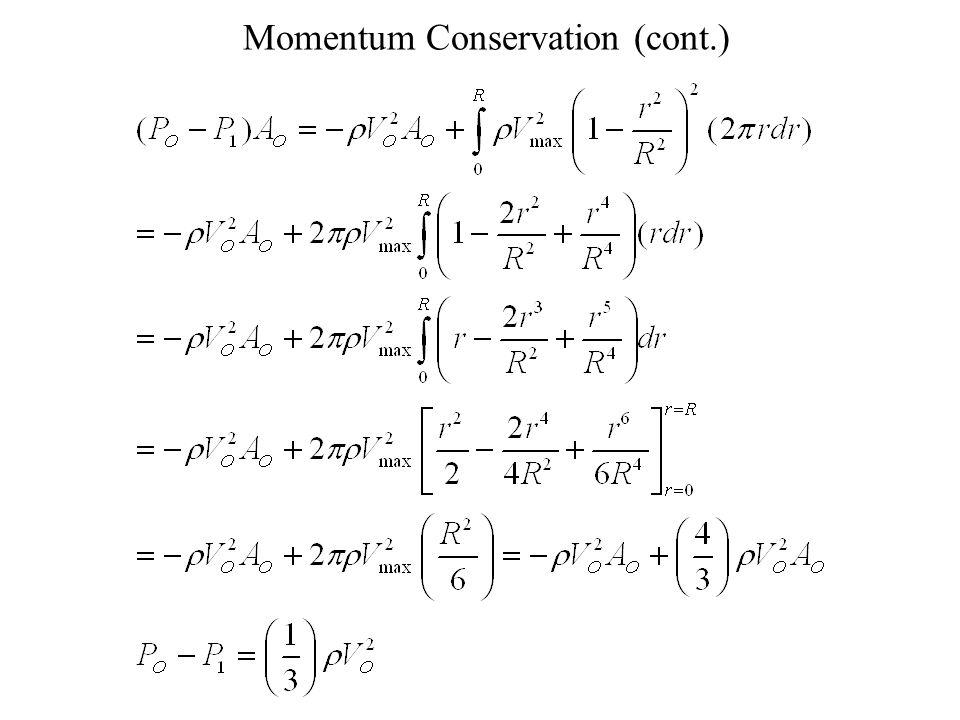 Momentum Conservation (cont.)