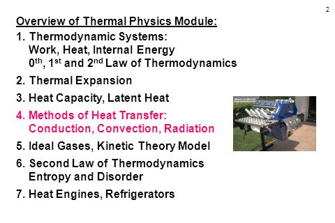 Overview of Thermal Physics Module: