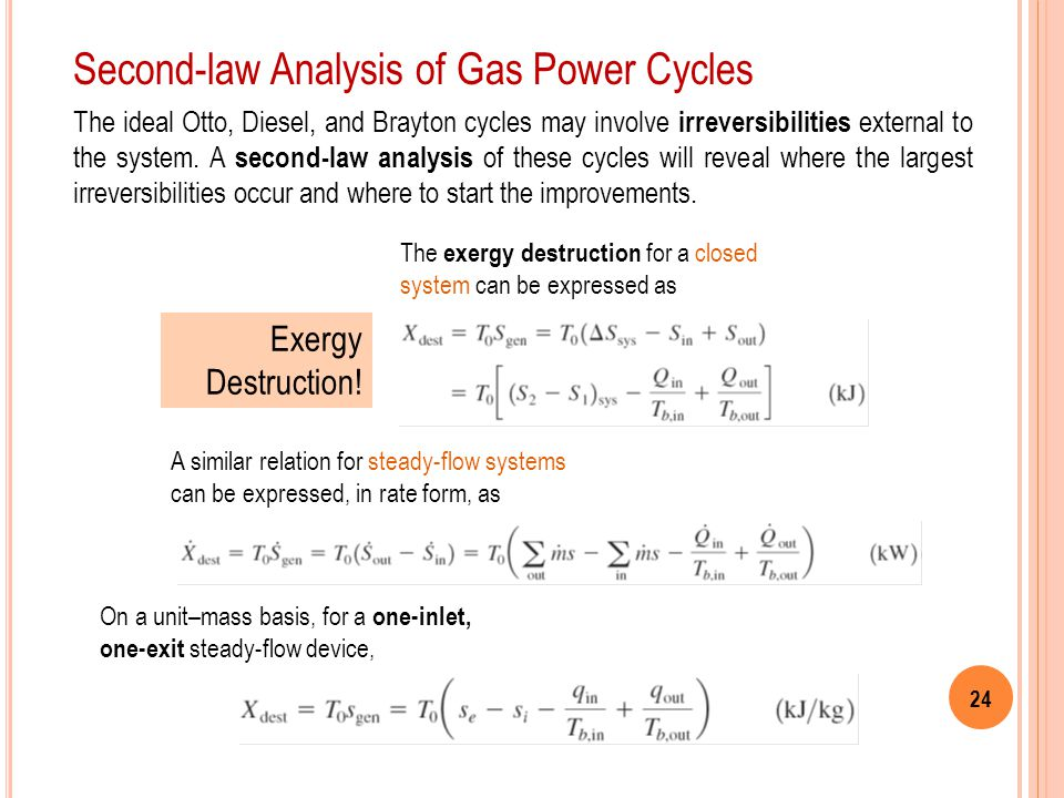 Second-law Analysis of Gas Power Cycles