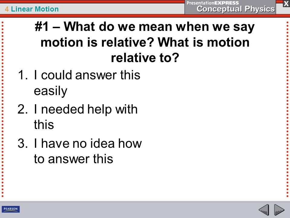 #1 – What do we mean when we say motion is relative