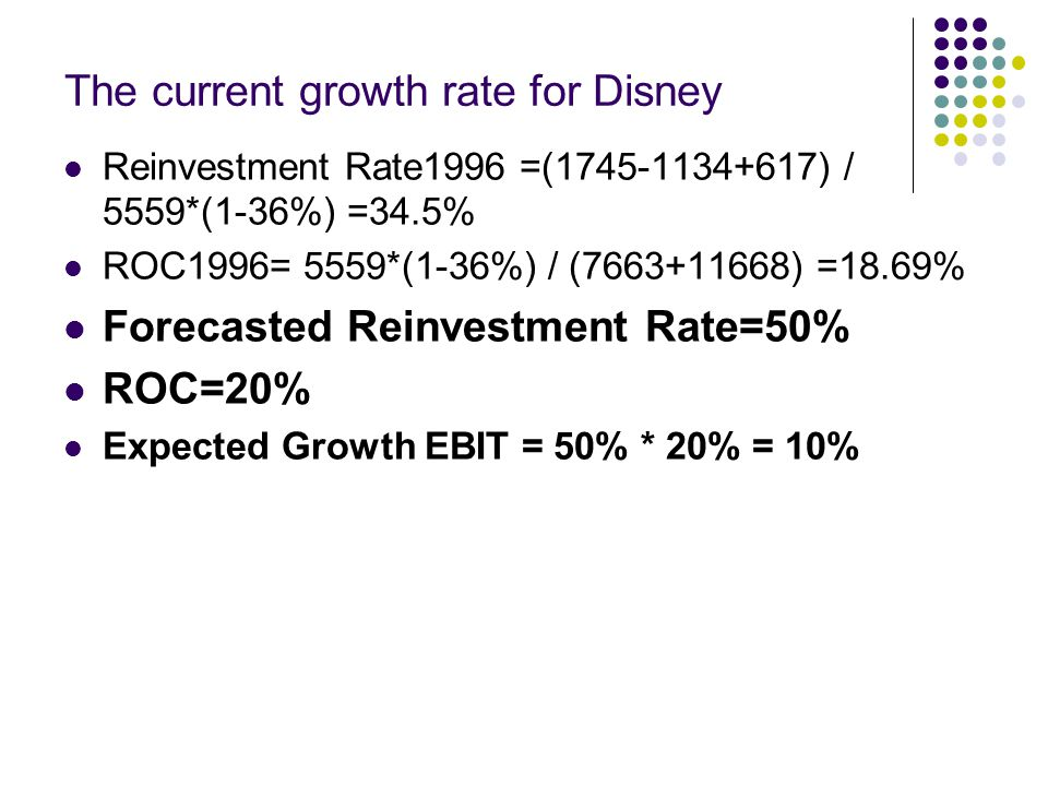 The current growth rate for Disney