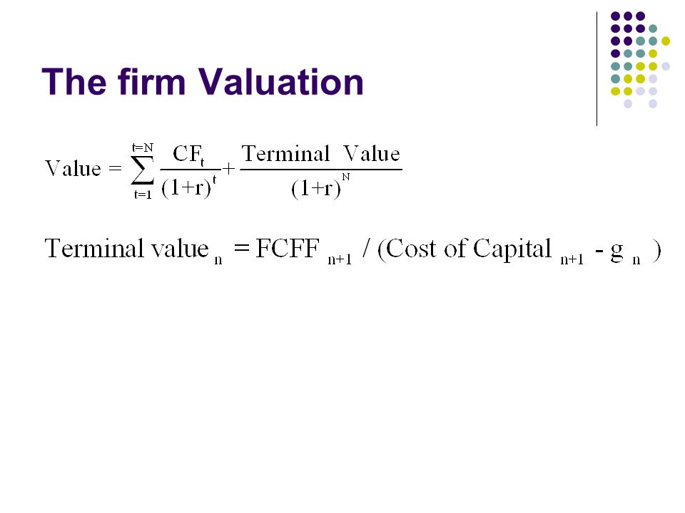 The firm Valuation