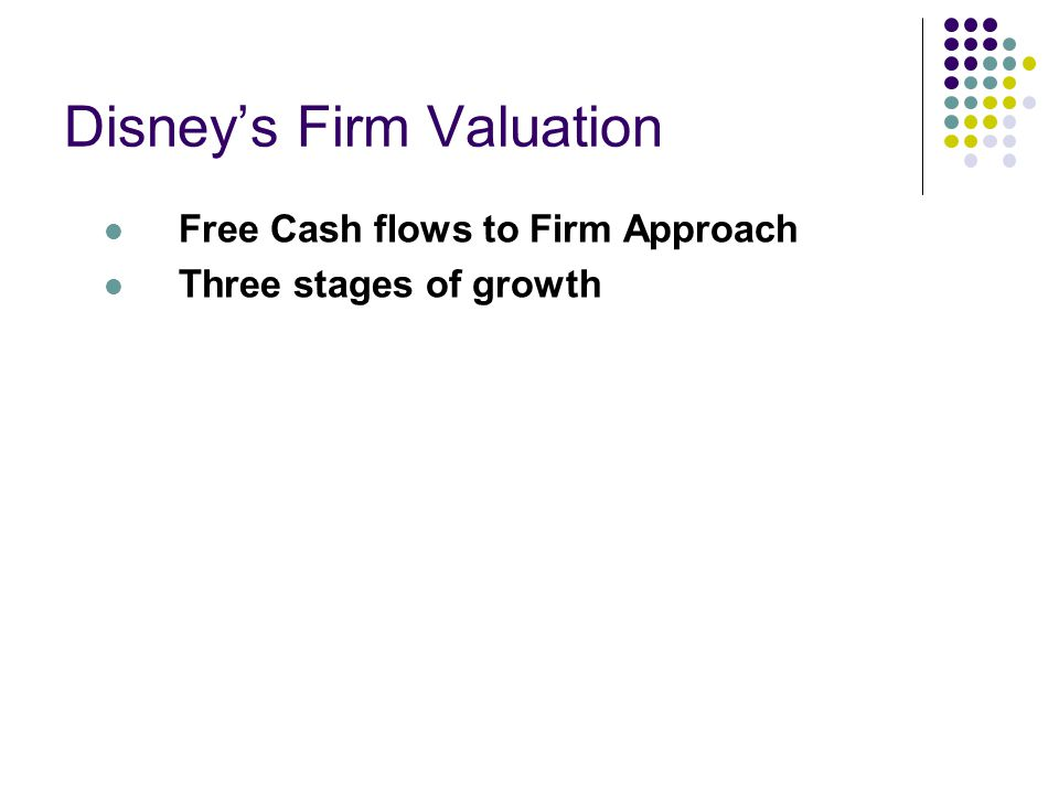 Disney's Firm Valuation