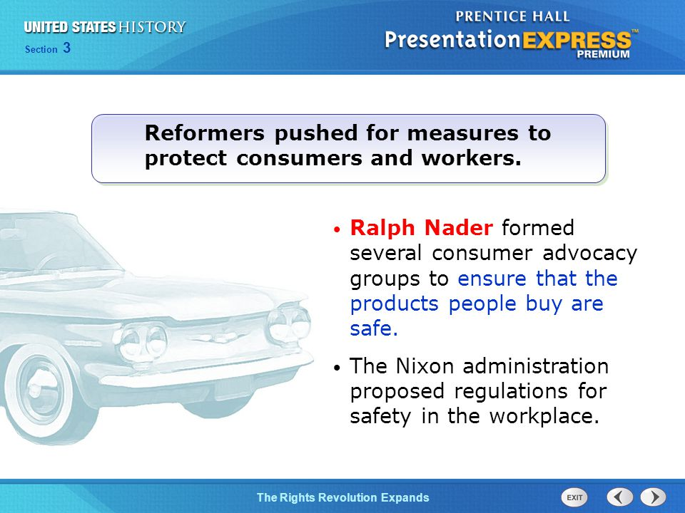 Reformers pushed for measures to protect consumers and workers.